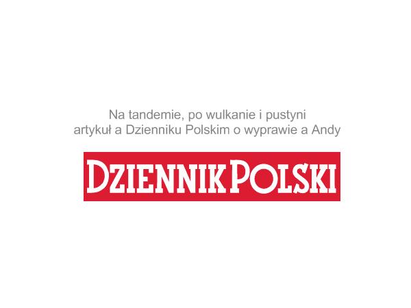 """Artykuł """"Na tandemie, po wulkanie i pustyni"""" w Dzienniku Polskim"""